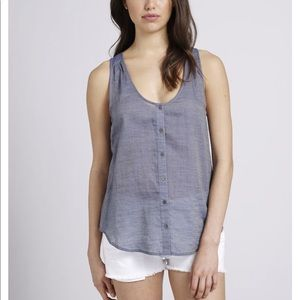 Joie Elisandra Denim Button down tank S